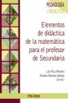 Elementos de didáctica de la matemática para el profesor de Secundaria - 9788436835366 - Libros de psicología