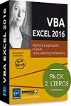 Pack de 2 libros: VBA EXCEL 2016 - 9782409004940 - Libros de informática