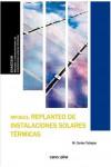 REPLANTEO DE INSTALACIONES SOLARES TERMICAS (MF0601) - 9788416338719 - Libros de ingeniería
