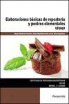 Elaboraciones básicas de repostería y postres elementales UF0069 - 9788428337793 - Libros de cocina