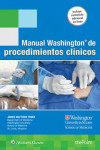 MANUAL WASHINGTON DE PROCEDIMIENTOS CLINICOS + ACCESO ONLINE | 9788416781256 | Portada