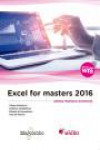 EXCEL FOR MASTERS 2016 | 9788426724847 | Portada