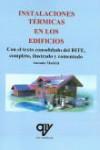 INSTALACIONES TERMICAS EN LOS EDIFICIOS - 9788494782442 - Libros de arquitectura