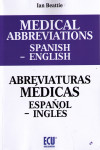 MEDICAL ABBREVIATIONS SPANISH - ENGLISH. ABREVIATURAS MÉDICAS ESPAÑOL - INGLES | 9788416966851 | Portada