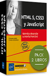 HTML 5, CSS3 y JavaScript.  Pack de 2 libros: Aprenda a desarrollar su interfaz Front End | 9782409025341 | Portada